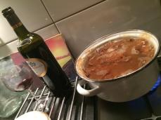 het koken van een half kilo'tje mispel prut!